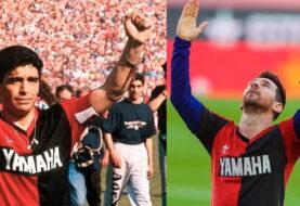 El homenaje de Messi a Maradona