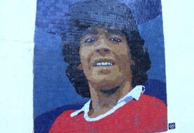 Un mural en mosaico para Diego en Argentinos Juniors