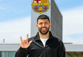 Sergio el Kun Agüero es nuevo jugador del Barcelona
