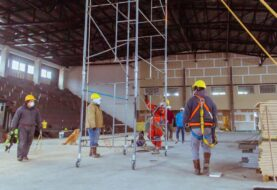 Avanza la obra del nuevo gimnasio María Auxiliadora en Río Grande