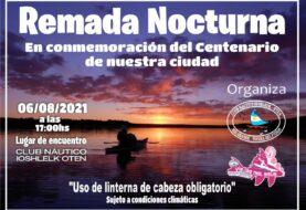 Remada nocturna por el Centenario de Río Grande