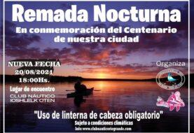 Reprogramación de la remada del Club Náutico Ioshlelk Oten de Río Grande.
