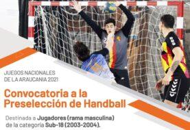 Convocatoria a la preselección de Handball