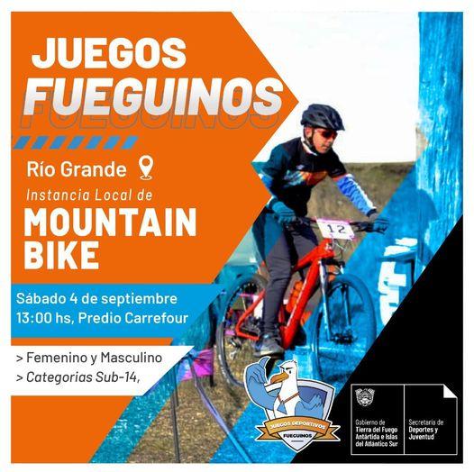 Juegos Fueguinos: Se corre la instancia local del MTB en Río Grande