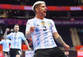 Argentina goleó a Paraguay y clasifica a cuartos de final del Mundial de futsal