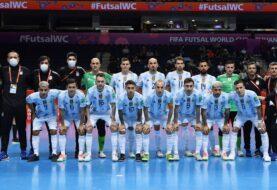 Derrotando a Irán Argentina terminó como líder de su grupo en el Mundial de futsal