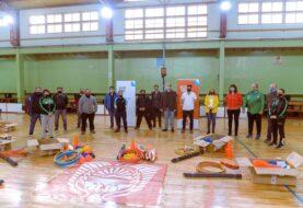Urquiza participó de la entrega de equipamiento a la Liga Ushuaiense de Fútbol