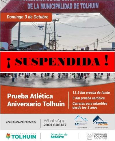 Prueba atlética Aniversario Tolhuin 11° Edición