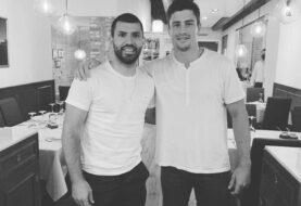 Agüero y Delguy se encontraron en Barcelona