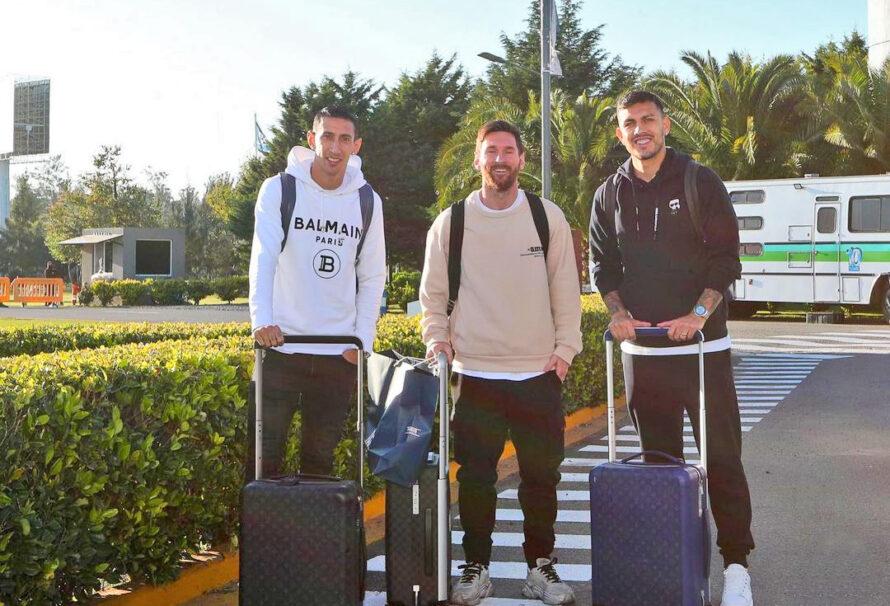 Messi arribó desde París junto a Di Maria y Paredes